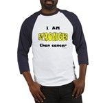 Stronger Than Cancer (yellow) Baseball Jersey