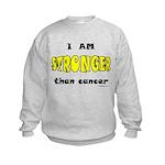 Stronger Than Cancer (yellow) Kids Sweatshirt