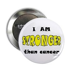 """Stronger Than Cancer (yellow) 2.25"""" Button"""
