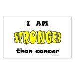 Stronger Than Cancer (yellow) Rectangle Sticker