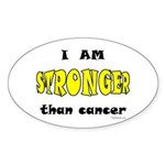 Stronger Than Cancer (yellow) Oval Sticker