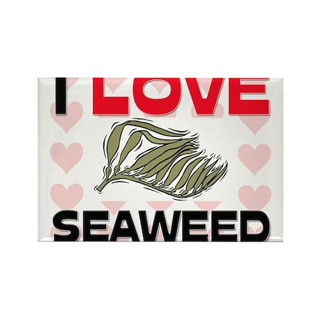 I Love Seaweed Rectangle Magnet