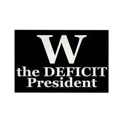 W: The Deficit President (magnet)