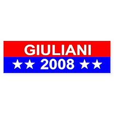 Rudy Giuliani, President, 2008 Bumper Bumper Sticker