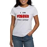 Stronger Than Cancer (red) Women's T-Shirt