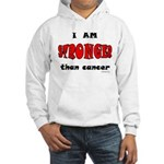 Stronger Than Cancer (red) Hooded Sweatshirt