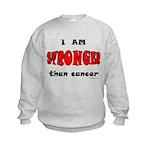 Stronger Than Cancer (red) Kids Sweatshirt