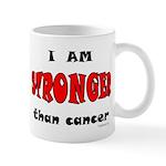 Stronger Than Cancer (red) Mug