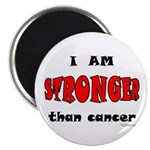 Stronger Than Cancer (red) Magnet