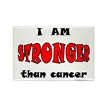 Stronger Than Cancer (red) Rectangle Magnet (10 pa