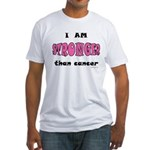 Stronger Than Cancer (pink) Fitted T-Shirt