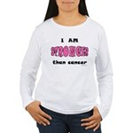 Stronger Than Cancer (pink) Women's Long Sleeve T-