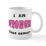 Stronger Than Cancer (pink) Mug