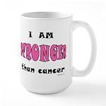 Stronger Than Cancer (pink) Large Mug