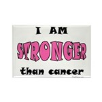Stronger Than Cancer (pink) Rectangle Magnet