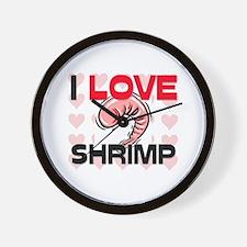 I Love Shrimp Wall Clock