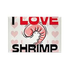I Love Shrimp Rectangle Magnet
