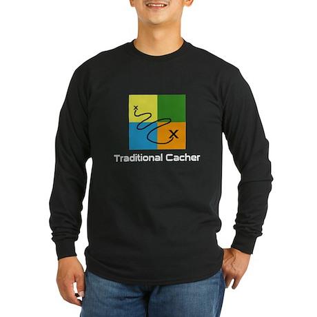 Traditional Cacher Long Sleeve Dark T-Shirt