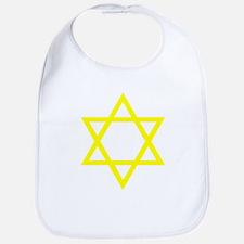 Yellow Star of David Bib