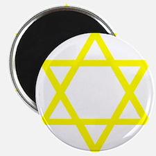 "Yellow Star of David 2.25"" Magnet (10 pack)"