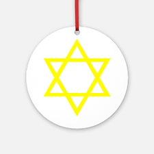 Yellow Star of David Ornament (Round)