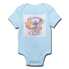 Haining China Map Infant Bodysuit