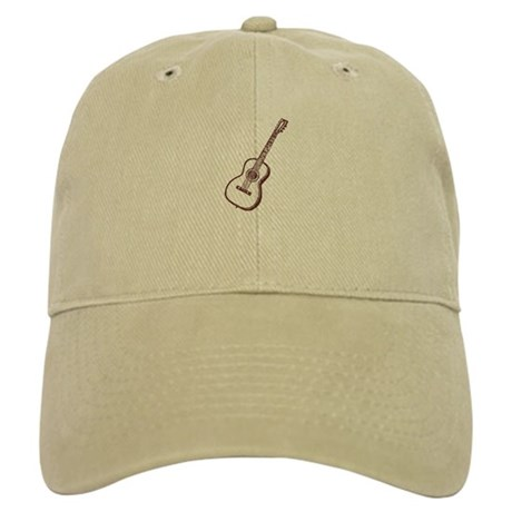 Woodcut Brown Guitar Cap