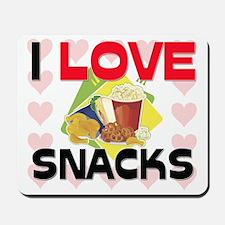 I Love Snacks Mousepad