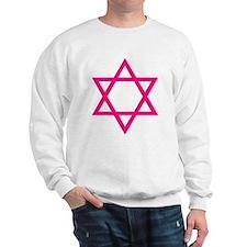 Pink Star of David Sweatshirt