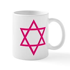 Pink Star of David Mug