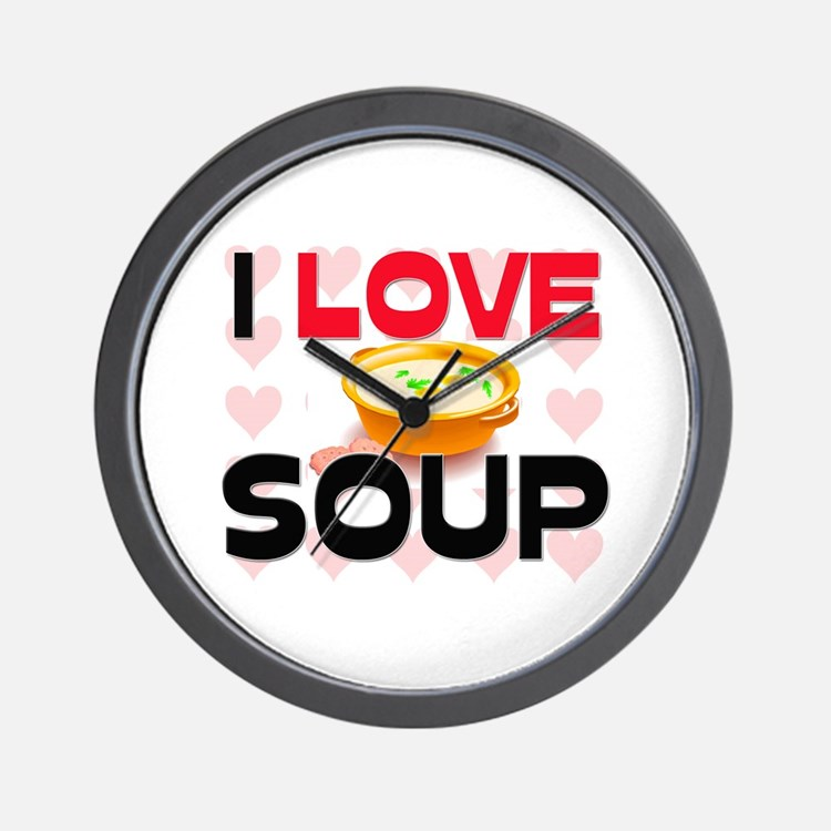 I Love Soup Wall Clock
