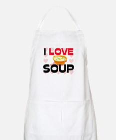 I Love Soup BBQ Apron
