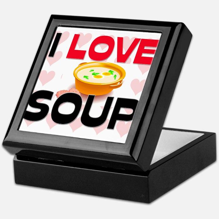 I Love Soup Keepsake Box