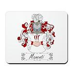 Manenti Family Crest Mousepad