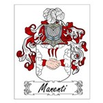 Manenti Family Crest Small Poster