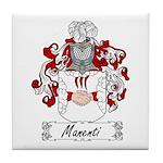 Manenti Family Crest Tile Coaster