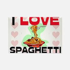 I Love Spaghetti Rectangle Magnet
