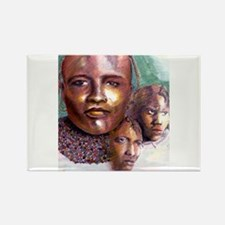 3 Faces of Africa Rectangle Magnet