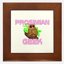 Prosimian Geek Framed Tile