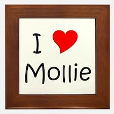 Cute Mollie Framed Tile