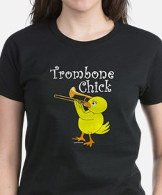 Trombonist Chick Text Tee