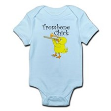 Trombonist Chick Text Infant Bodysuit