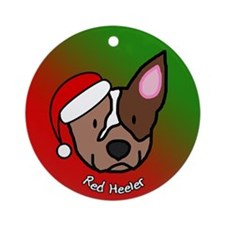 Cartoon Red Heeler Christmas Ornament