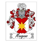 Mangano Family Crest Small Poster