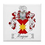 Mangano Family Crest Tile Coaster
