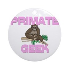 Primate Geek Ornament (Round)