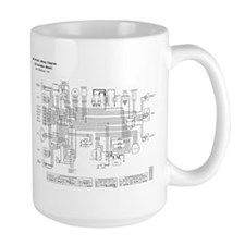 KZ750B3 Wiring Diagram (B/W) Ceramic Mugs