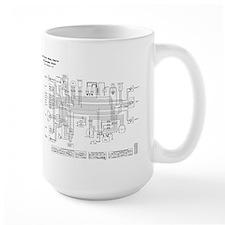 KZ750B3 Wiring Diagram (B/W) Mug