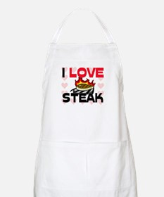 I Love Steak BBQ Apron