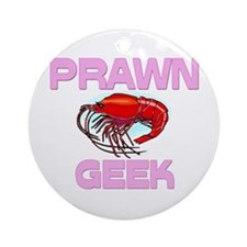 Prawn Geek Ornament (Round)